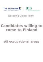 Candidates willing to come to Finland